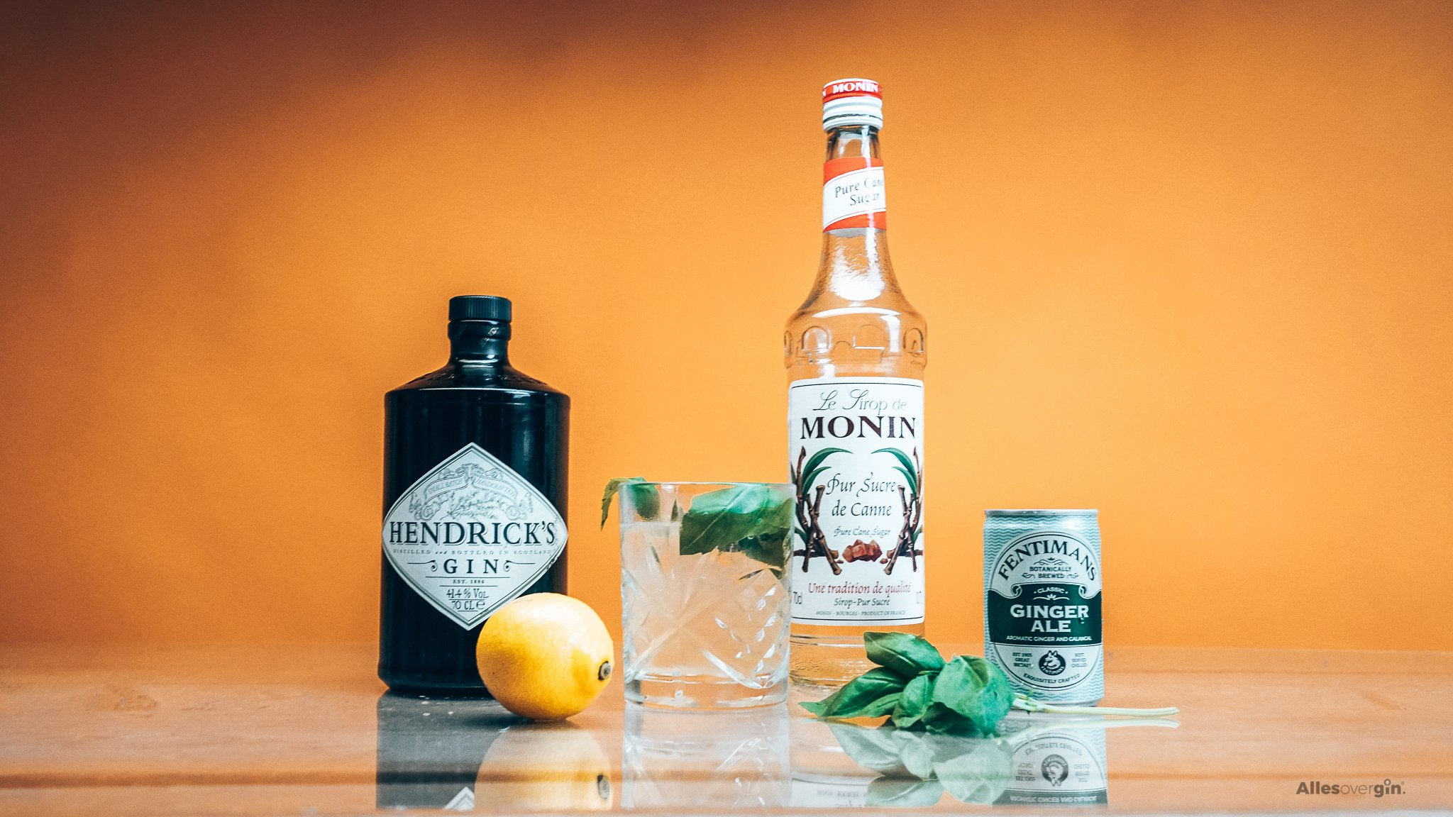 Gin Basil Smash, Gin cocktail recept, Hendrick's Gin, Alles over gin,